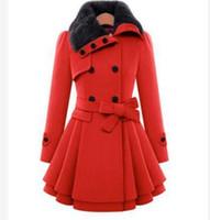 ingrosso giacche di nylon coreane-Nuova giacca bowknot di lana femminile sezione lunga coreana 2018 autunno inverno slim cappotto di lana cappotto caldo cappotto 2018 moda plus size 4XL caldo