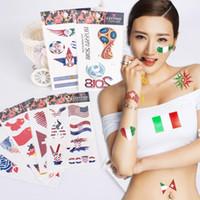 etiqueta da mão dos homens venda por atacado-Bandeira nacional Etiqueta Do Tatuagem Temporária Jogos Olímpicos de Copa do Mundo À Prova D 'Água Rosto Tatuagens Adulto Homens Mão Adesivo