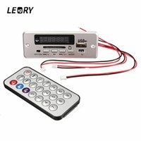 Wholesale display controller board - LEORY Mini 5V TF MP3 Decoder Board Audio Decoding Module Digital LED Display With Remote Controller For DIY Electronic Modules