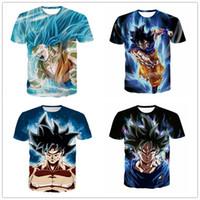 ingrosso palla per il fitness-Maglietta classica Anime Dragon Ball Z Son Goku DBZ Personaggi magliette 3D Magliette donna Uomo Fitness Fitness t-shirt