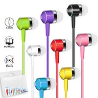 Wholesale xiaomi pink earphones online – 3 MM Wired Earphones Sport Running Sweatproof Headphones Stereo Headset Universal For iPhone Samsung Xiaomi Smartphones