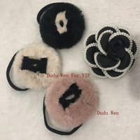 Wholesale luxury xmas gifts for sale - 2018 Fashion sytel cute fur hair tie logo hairy hair rope with pouch Luxury classic hair accessories party gift xmas gift