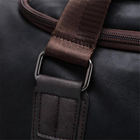 Wholesale brown leather luggage - Summer New Men Hand Travel Bags Male Business PU Leather Luggage Bag Luxury Brand Men's Large Duffel Bag Crossbody Pack A500
