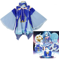 Wholesale Miku Dress - VOCALOID 2018 Snow Miku Hatsune Star Princess Dress Cosplay Costumes Women Dresses Full Sets