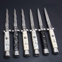 ingrosso coltelli boda-10 pollice (6 modelli) padrino italiano Mafia Stiletto tattico pieghevole coltello 9Cr18Mov campeggio caccia di sopravvivenza serie di utensili EDC