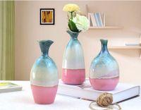 Wholesale living rooms ceramic decoration resale online - 17x8cm Mini Ceramic vase Flower Arrangement Living Room Decoration Crafts Different Styles