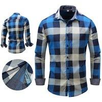 ince sığan kovboy gömlekleri toptan satış-Erkek Otantik Kovboy Cut Çalışma Batı Uzun Kollu Gömlek Slim Fit Düğme Gömlek Çin modern güzellik