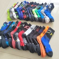 Wholesale cotton children slipper online - Brand UA boys kids Socks Under Cotton children Basketball Sock Sports Mid calf Stockings Winter Autumn Ankle Sock Slippers Hosiery stocking