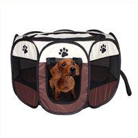 Wholesale plastic kennels resale online - Waterproof Puppy House Octagonal Pet Fence Portable Folding Oxford Cloth Dog Cat Tent Multi Color hz2 Z R