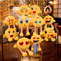 Wholesale cartoon plush pillows for sale - Group buy QQ Expression Pillow cm cm Cute Emoji Pillows Cushion With Leg Cartoon Facial Decorative Pillows Stuffed Plush Toy Novelty Items OOA5675
