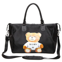 Wholesale Large Christmas Bears - tote bags for women bear decoration black large capacity women tote bag fashion designer travel bags high quality
