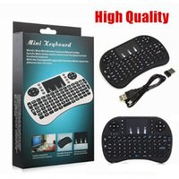 Wholesale English Tablets - Mini Rii i8 Wireless Keyboard 2.4G English Air Mouse Keyboard Remote Control Touchpad for Smart Android TV Box Notebook Tablet Pc