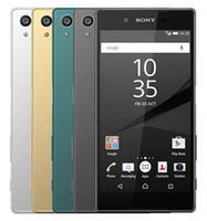 xperia lte al por mayor-Reacondicionado Original Sony Xperia Z5 E6653 E6683 desbloqueado Octa Core 3GB / 32GB 5.2inch 23MP 4G LTE