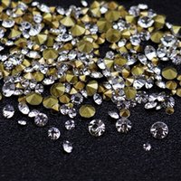 гвозди драгоценные камни оптовых-WAKEFULNESS Clear Crystal Rhinestones for Nails Non Hix Sharp Bottom Gemstones Nail Charms Manicure 3D Nail Art Decorations