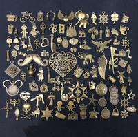 Wholesale bronze bracelet accessories online - Pieces zakka Vintage Charms Pendant Antique Bronze Silver Fit Bracelets Necklace Diy Metal Jewelry Making Accessories