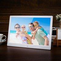 mp3 resim çerçeveleri toptan satış-8 inç Elektronik Fotoğraf Çerçeveleri Uzaktan Kumanda Dijital Fotoğraf Çerçevesi HD LCD Resim Çerçevesi MP3 Çalar Saatler Ev Dekorasyon