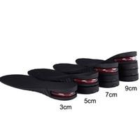 cojines para los pies al por mayor-3-9 cm altura aumento plantilla altura del amortiguador elevación corte ajustable talón zapato Taller mujeres hombres unisex calidad almohadillas