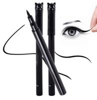 стили для кошачьего глаза оптовых-Новая красота Cat стиль черный длительный водонепроницаемый жидкий карандаш для глаз подводка для глаз Карандаш макияж косметический инструмент