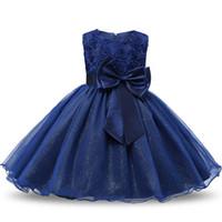 vestidos de novia grandes arcos al por mayor-Los niños blancos de la princesa vestidos de niña para el banquete de boda vestido de comunión Big Bow Prom vestido para niña 12 años vestido curto Y1891203