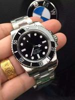 esportes de cerâmica venda por atacado-Black AAA Top marca de luxo Cerâmica Bezel Mens Mecânico de Aço Inoxidável Movimento Automático Assista Esportes Auto-vento Relógios Relógio De Pulso