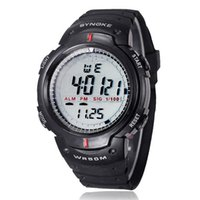горячий будильник оптовых-Hot Clock Waterproof Outdoor Sports Men Digital LED Quartz Alarm Wrist Watch BK Lovers Fashion Casual LED Electronic