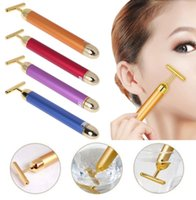Classical 24K Golden Beauty Electric Firming Facial Pulse Roller Massager Anti-aging Face Skin Care New