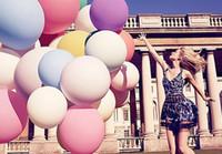 sauter décorations achat en gros de-36 pouces d'énormes ballons en latex coloré Inflable Blow Up ballon géant fête d'anniversaire de mariage grand ballon décoration