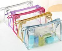 Wholesale clear pvc makeup case for sale - Group buy 1pcs PVC Transparent Pen Case Pen Bags Pouch Women Clear Waterproof Makeup Storage Pounch Transparent Cosmetic Bag