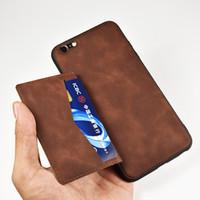 iphone brieftasche doppelter fall großhandel-Rückseitige Abdeckung für Iphone X 6 6S 7 8 Plus-Hülle Rückseitige Abdeckung für iPhone XS Max-Hülle aus Leder mit doppeltem Kartenschlitz