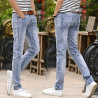 Wholesale Korean Jeans Pants For Men - Four Seasons Jeans For Young Men Korean Style Fashion Slim Fit Denim Pants Straight Trousers High Quality Casual Jeans Men Cool