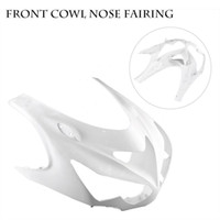 Wholesale White Zx14r - ALLGT Motorcycle Upper Front Cowl Nose Fairing For 12 13 14 Kawasaki Ninja ZX14R 2012 2013 2014 Unpainted White ABS