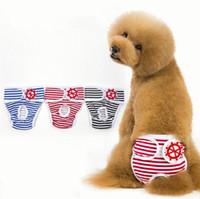 couches extra grandes pour chiens achat en gros de-5 taille femelle chien couche lavable réutilisable coton pour animaux de compagnie couche-culotte réglable pantalon physique culotte hygiénique anti-harcèlement pantalon