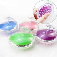 kopfhautpinsel neu großhandel-Neue Ankunft 4 farbe Kopfkopfmassagegerät Magie Shampoo Bad Massagebürste Kopfhaarpflege Vibrationsbürste