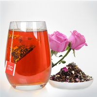 lotus çiçek satışı toptan satış-Koştu Satış Çiçek Çay 3 g / torba Yunnan Çanta Çay Çiçek Puer Doğal Zayıflama ile Yasemin ve Lotus Yaprağı ile Karışık 100 Parça Başına