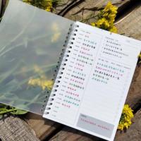 calendario al por mayor-A5 PP Cubierta simple espiral Cuaderno Kraft Grid Dot En blanco Diario Semanal Planificador Libro Tiempo Gestión Planificador Material escolar