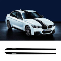 Wholesale Door Skirt - Skirt Sill Decal Side Stripe 2pcs M Performance Sticker for BMW 3 Series F30 F31