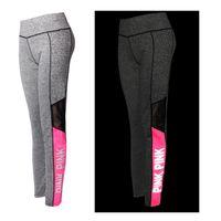 розовые йоги брюки леггинсы оптовых-Йога леггинсы женские леггинсы ночной пробег светоотражающий розовый высокой талией эластичные тренировки йоги брюки плотно бег трусы плюс размер XS-XXXL