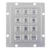 Wholesale outdoor keypad - 3*4 Matrix rugged USB Numeric IP65 Waterproof panel mount brushed Metal Keypad with 12 full travel keys for indoor and outdoor