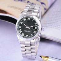 reloj mecánico para niños al por mayor-SSS relojes de hombre de alta calidad de lujo fecha automática reloj marca de fábrica negro acero inoxidable boy reloj mecánico Relogio masculino gif