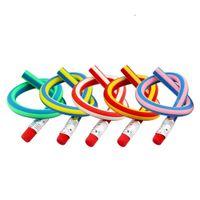 ingrosso pacchetto regalo matita-Matita flessibile Bendy flessibile con gomma da cancellare Colorful Magia flessibile flessibile da scrittura a matita regalo per bambini Confezione da 10