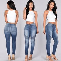 Wholesale New Sexy Women Denim Skinny Pants High Waist Stretch Jeans Slim Pencil Trousers Worldwide