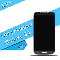 Wholesale I545 Screen - For Samsung Galaxy S4 9500 9505 I545 I337 M919 L720 Original LCD Touch Screen Digitizier Assembly Blue White Free DHL Shipping