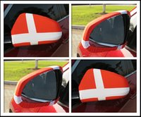 Wholesale national cars - Russia World Cup National flag Car Side View Mirror sleeve Cover World Cup Printing football soccer fans gift GGA89 200lots