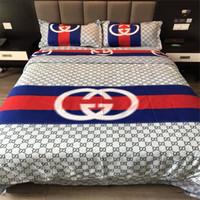 3d bedding set al por mayor-Ropa de cama nórdica simple Juego de 4 piezas Variedad de juego de sábanas de logotipo con estilo Juego de sábanas de sábanas y sábanas de diosa negro