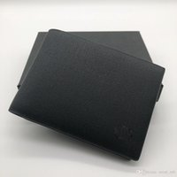 eski yeni klipler toptan satış-Yeni lüks erkek deri kısa klip cüzdan tutucu MT cüzdan MB tasarımcı cüzdan kredi kartı tutucu cep fotoğraf M B fotoğraf çerçevesi