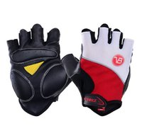 Wholesale fingerless padded gloves - Veobike Running Cycling Moto Gloves Half finger with Comfortable Gel Pad Damping and Anti Slip Fingerless Gloves Free shipping