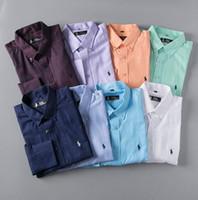 cheque camisas de moda al por mayor-2018 Hombres de marca Camisa casual de hombre de manga larga a rayas slim fit masculina social masculina Camisetas nueva moda hombre camisa a cuadros $ 6710