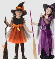 vestidos venda de fábricas venda por atacado-Crianças Vestidos de Festa de Carnaval Bonito vendas diretas da Fábrica halloween crianças traje menina vestido cosplay Bruxa Traje de Festa de Halloween para criança