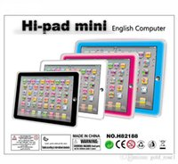 Wholesale toys computer laptop online - new Learning Toy game Tablet pad chinese English Computer Laptop Y Pad Kids Game Music Education Christmas Electronic Notebook