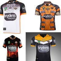 Wholesale heroes shirts - WESTS TIGERS NRL National League 2017 2018 2019 AWAY JERSEY Rugby Jerseys Commemorative anniversary Edition Heroes Rugby jersey shirt s-3xl